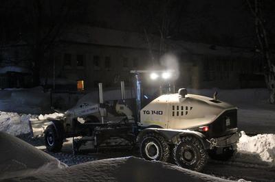 Уборка снега техника снег зима