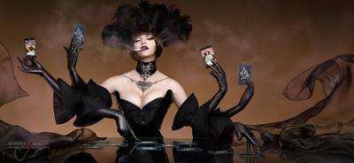 Black Magic. Пасьянс. пасьянс гадалка женщина магия предсказание мистика чёрный украшения корсет карты