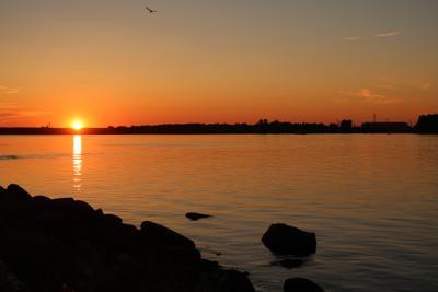 Закат на Волге закат sunset Волга река небо