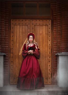 Белая принцесса портрет исторический люди девушка тематический nikon model