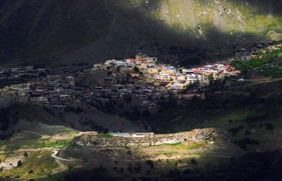 *** город в горах горы старый заброшенный аул дагестан Чох