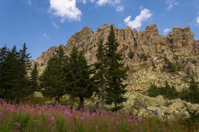 У подножия горы Откликной гребень.