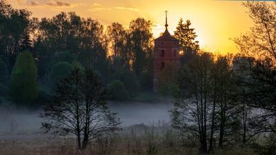 УТРО. Рассвет туман утро