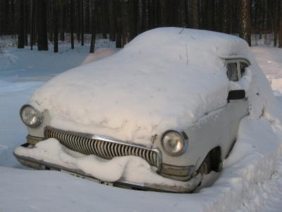 Совсем завалило! природа зима снег ссср техника авто ретро