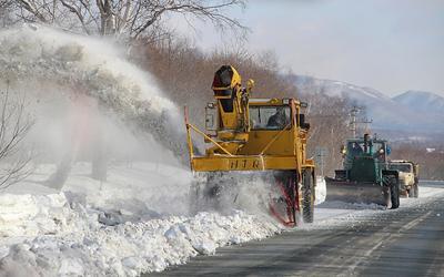 Уборка снега Остров техника циклон сугробы