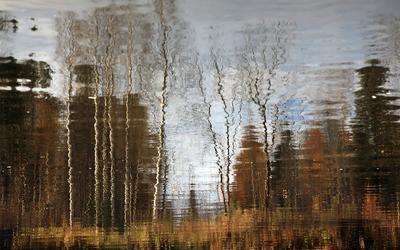 Что такое осень-это.... река лес отражение