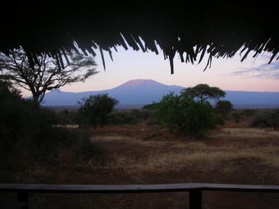 Вид на гору Килиманджаро (Кения)