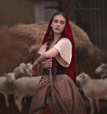 Пастушка Пастушка крестьянка портрет художественная фотография