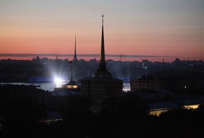 Белые ночи Питер Исаакиевский собор Адмиралтейство
