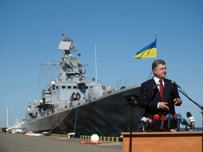 Президент и флагман одесса президент порошенко сагайдачный