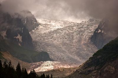 Ледник горы лед ледник Кавказ