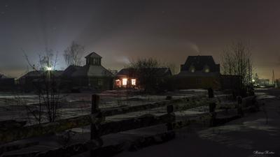 ***Рождественская ночь рождество ночь зима деревня колядки