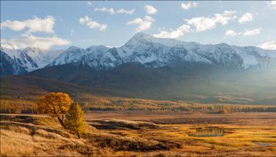 Закатный треугольник Алтай, Северо-Чуйский хребет, Ештыкель, сентябрь