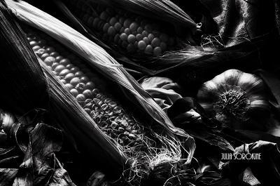 Второй день Осени кукуруза осень чеснок блюз настроение