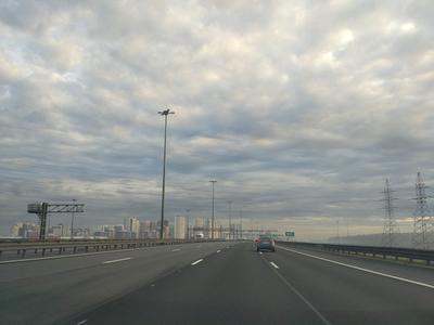 Домой... дорога город утро облака