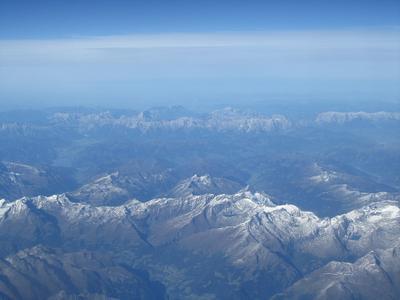 Над Альпами горы Альпы
