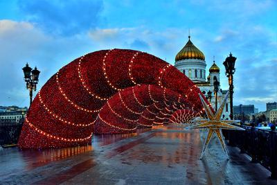 Патриарший мост мост рождество праздник город