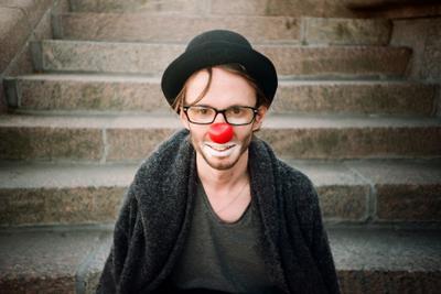 Клоун клоун друг пленка ломография lomography портрет clown
