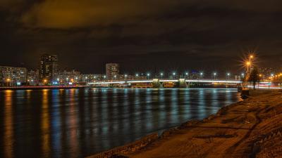 Володарский мост в Питере петербург ночь володарский мост