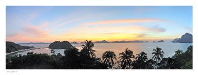 Филиппинский закат Филиппины пальмы остров закат