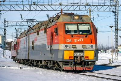 2ЭС5К-136 railway железная дорога locomotive локомотив электровоз поезд train Russia Siberia Irkutsk Россия Сибирь Иркутск споттинг spotting