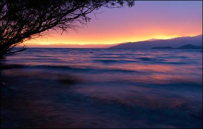 Закат на озере Маркаколь