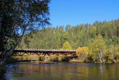 мост через р.Хаим мост река Бурятия