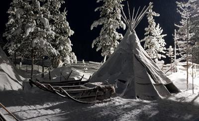 Саамские сказки в полярную ночь Лапландия Саамская деревня Самь-Сыйт Ловозеро Кольский полуоостров