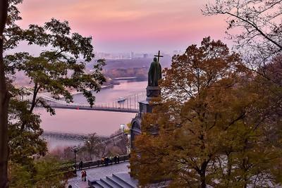 Закат над Владимиром Закат прогулка киев владимир великий история достопримечательности