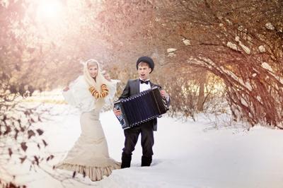 Э-э-эх! Гуляем! Зима, свадьба, деревня, гармонист, свадебный фотограф