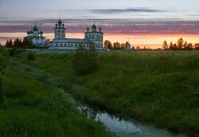 Вяжищи Новгород Вяжищи монастырь рассвет утро