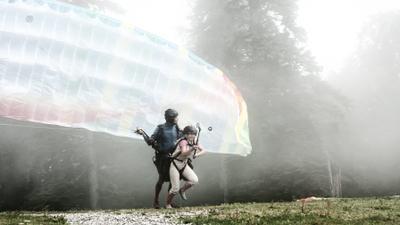 Полеты во сне и наяву Абхазия Гагры Мамзышха Параплан взлет полет туман эмоции
