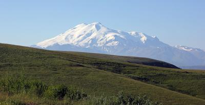 Вид с перевала Гумбаши Эльбрус горы кавказ