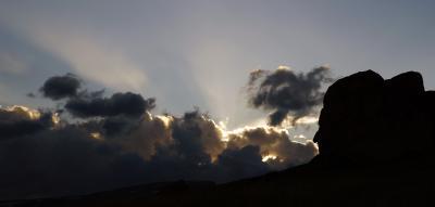 Вечерний пейзаж горы Алтай небо вечер