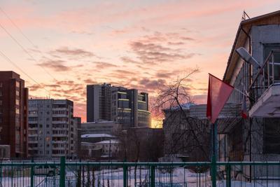 Red evening Красноярск