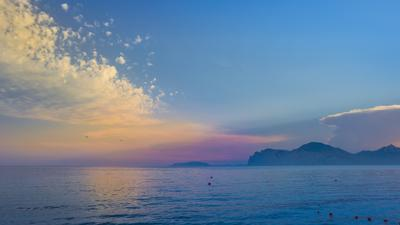 Вечер у моря Крым закат 2019