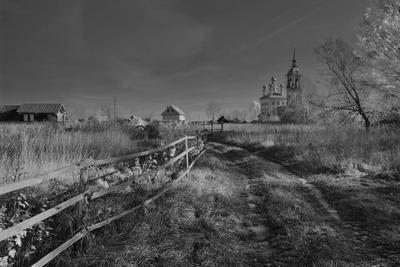 Огороды деревня пейзаж
