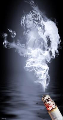 МинЗдрав предупреждает дым, сигарета, девушка