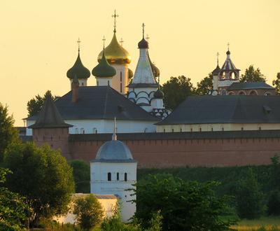Золотой рассвет Суздаль Золотое кольцо России