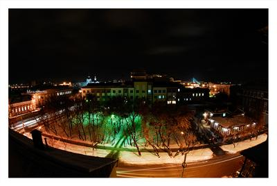 Вечерок зимы зима, вечер