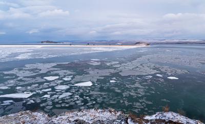 Замерзающий Байкал. Байкал Декабрь Лед Острова