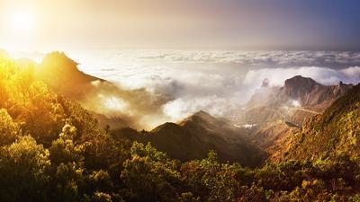 Закат в горах. Тенерифе, Испания.