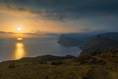 Балаклавские маршруты море пейзаж вечер закат крым севастополь жанр балаклава