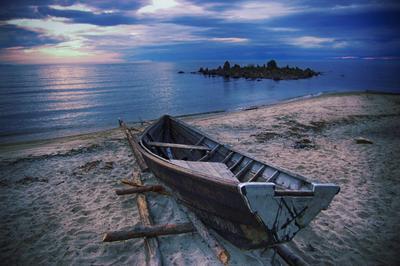 Покой nikon байкал лодка озеро вечер