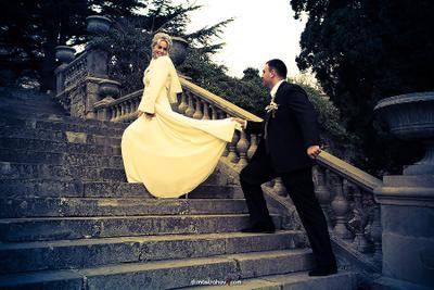*** молодожёны, свадьба, лестница, Форос