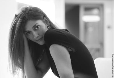 Валерия девушка модель чб