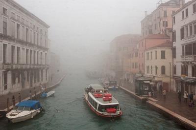 Утро в Венеции Венеция Канал Лодка Море Река