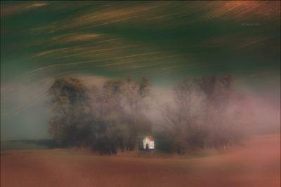 DREAMS южная моравияпейзаж hils часовенка св.варвары линии chapel south moravian lines свет czech лето чехия landscapes