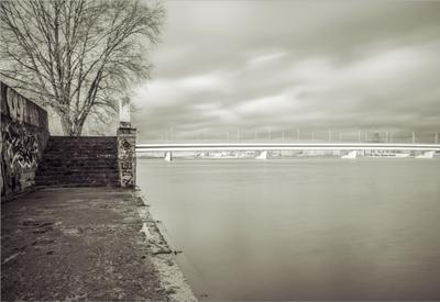 Набережная Набережная река лестница мост небо