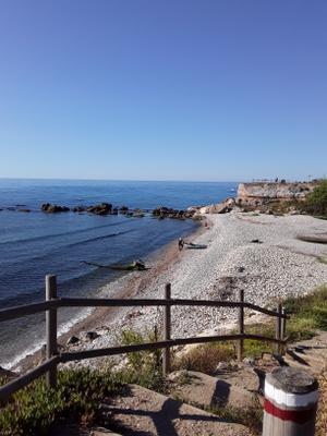 ***утро на море испания каталуния море пейзаж путешествия отпуск прогулка отдых